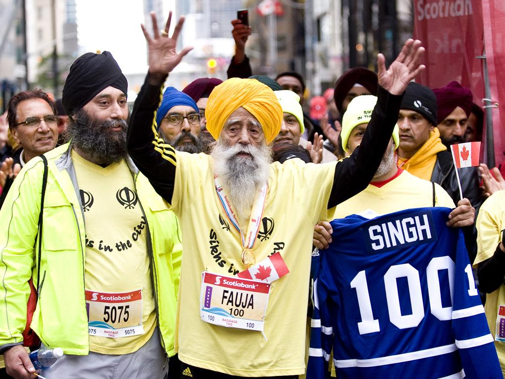Sardar Fauja Singh runs to connect with God