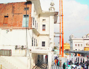 The gurdwara near the Miri Piri in Amritsar which will be converted into the Operation Bluestar Memorial.