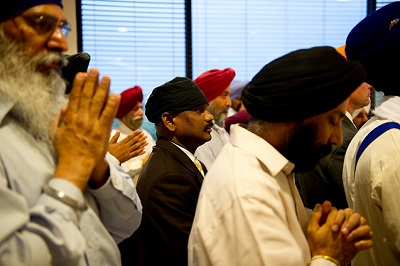 Sikhs Main Sikh candlelight prayer ceremony Photo