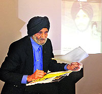 Lt Colonel Pritam Singh Jauhal at the launch of his memoir in Surrey in Canada on Saturday