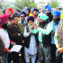 The Sikh talmel committee members during a protest in Jalandhar
