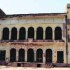 The historic Summer Palace of Maharaja Ranjit Singh at Ram Bagh Garden; (right) garbage dumped at the historic palace in Amritsar