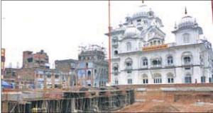Work in progress at Gurdwara Patna Sahib in Bihar.