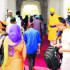 SGPC men (in yellow turban) ask devotees to deposit their bags at the luggage counter at the Golden Temple on Wednesday.