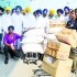 SGPC team taking relief material to Jammu and Kashmir on Friday.