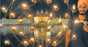 Diwali at the Golden Temple in Amritsar.
