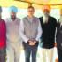 SGPC officials with J&K CM Omar Abdullah in Srinagar.