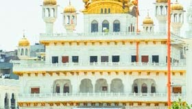 A view of Akal Takht in Amritsar.