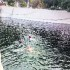 Sikh devotees from European countries take bath in holy Bein at Sultanpur Lodhi in Kapurthala