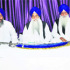 Sikh high priests at a meeting at Akal Takht Secretariat in Amritsar