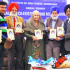 Sikh scholars attend a book release function at the Institute of Sikh Studies