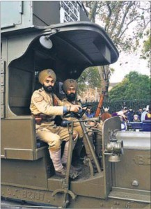 100 YEARS ON London procession marks World War 1 centenary, volunteeers demonstrate how battle bus used to carry Indian soldiers to the Western Front